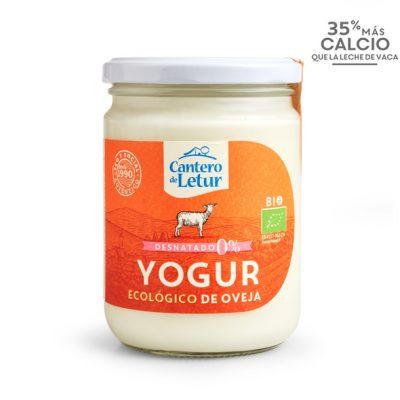 Yogur ecológico de oveja desnatado de 420 g. Cantero de Letur