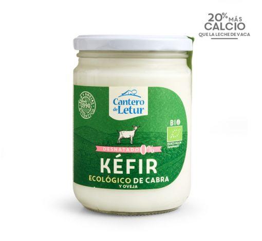 Kéfir ecológico de cabra desnatado de 420 g. Cantero de Letur