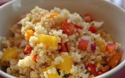 Ensalada de quinoa, sandía y queso fresco