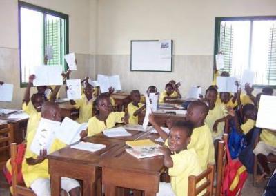 Mejora de la calidad educativa y la inclusión de infancia con necesidades educativas especiales en Guinea.